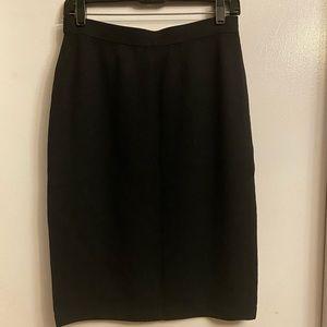 St John black knit skirt